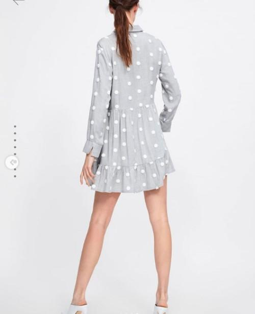 Zara contrast polkadots dress (AF)