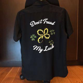 TSN Dont Tread My Luck Black Bowling Shirt