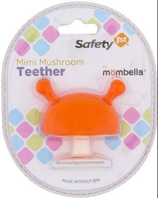 Safety 1st featuring Mombella Mimi Mushroom Teether, Yellow / Orange , Small