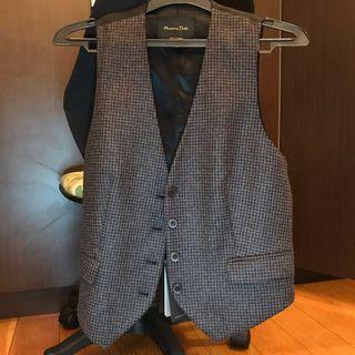 Massimo Dutti Brown-Black Vest