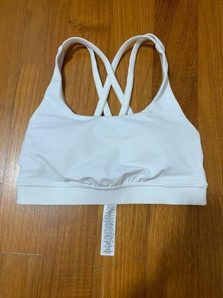 🚚 Lululemon Energy Bra Size 2 White