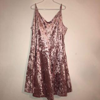 Pink Velvet Flowy dress