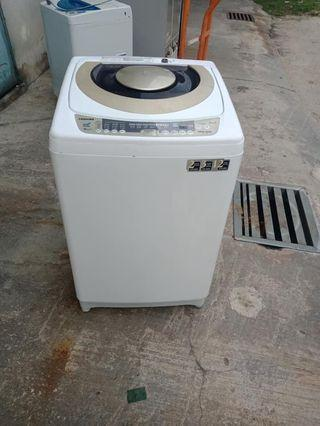 Used Toshiba washer 10.0kg washing machine mesin basuh fully automatic stainless steel drum in good condition