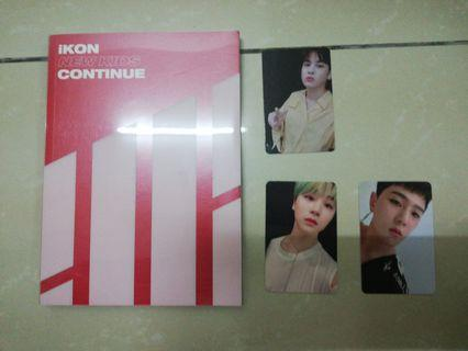 IKON RED CONTINUE ALBUM AND PHOTOCARD