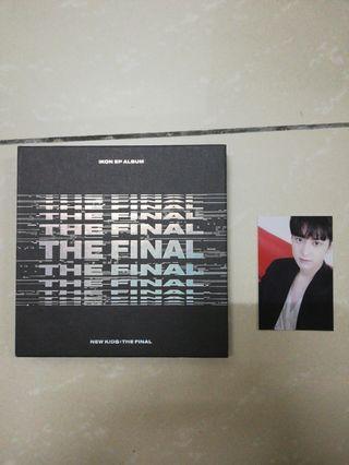 IKON THE FINAL BLACK ALBUM AND PHOTOCARD
