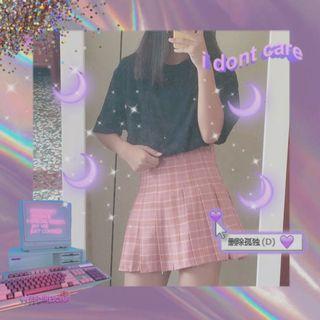 🚚 韓 格子百褶裙