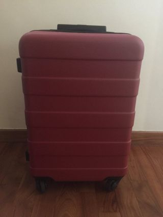 Muji carry on luggage (red)