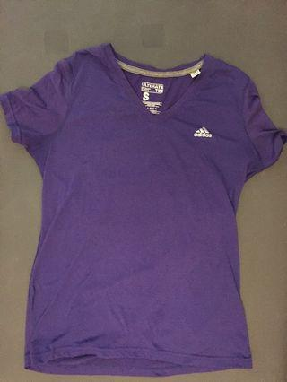 purple adidas shirt