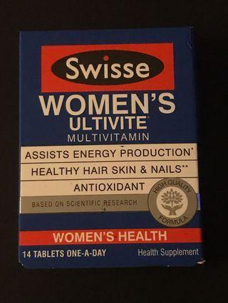Swisse women's ultivite 14 tablets