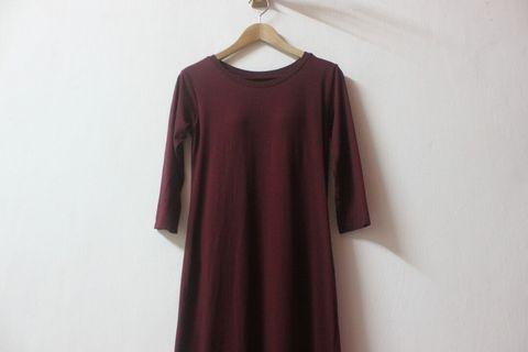 Padded Bra 3/4 sleeve dress