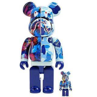 🚚 Bape X Mika Ninagawa Bearbrick 400% + 100% [Pink / Blue]