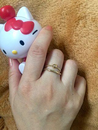 全新真品 足14K黃金戒指 14K Gold Ring 日韓時尚典雅 可獨立/兩種戴法配襯 圖好齊 非周大福 周生生 六福