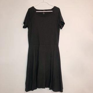 F21 Olive Green Dress
