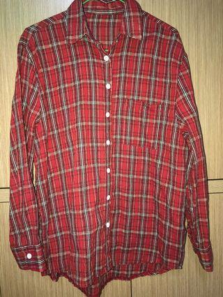紅色格紋襯衫
