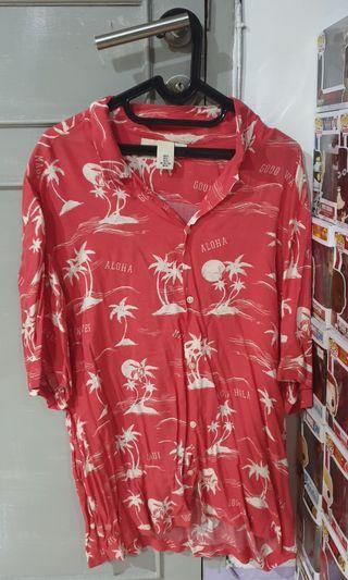 H&M HnM Kemeja Pantai Aloha