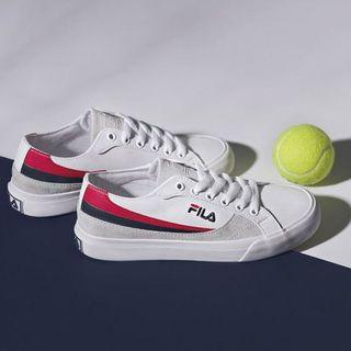 🚚 #290 Fila Center Court Centre White Red Black Sneakers Shoes