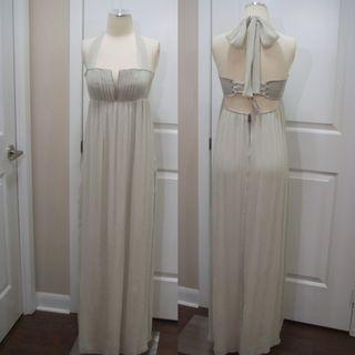 Alice Olivia silk goodness halter gown size 4