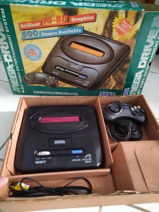 Sega Megadrive 2 md2 fullset lengkap