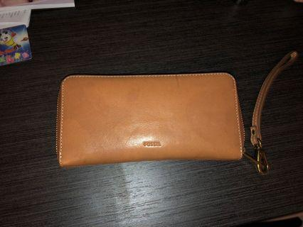 FOSSIL Genuine Leather Full Zip Wallet
