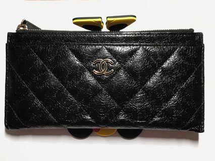Chanel pouch long wallet card holder