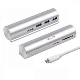 ALXUM USB3.0 3-Port Hub with Card Reader *USB-C*