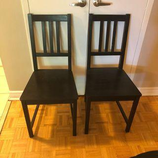 Ikea Black Brown Kitchen Dining Chairs (and table available)