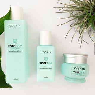 [SALE] It's Skin Tiger Cica Calming Water + Serum + Gel Cream