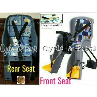 Baby / Child Seats for bicycles ☆ Rear $39, Front $59 ☆ Brand New Taiwan Products ☆ Simple & Nice ☆ Easy Installation