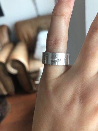 Gucci Sterling Silver Ring Size 4.5(approx)