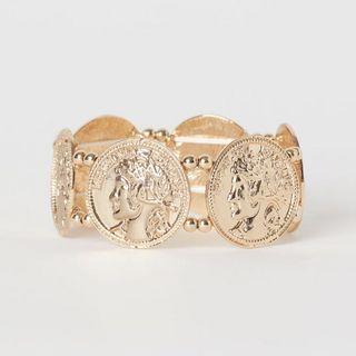 正品 H&M 金幣彈性手環