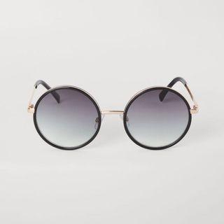 正品 H&M 圓框太陽眼鏡[黑]