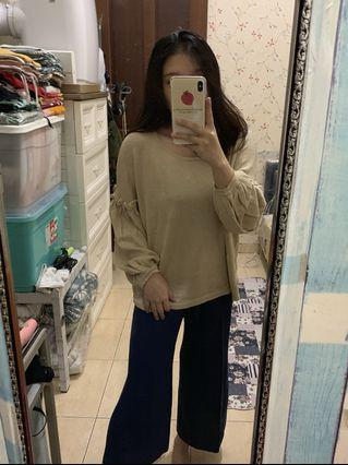 Cream longsleeve top