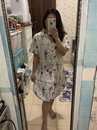 Bunny pajamas dress