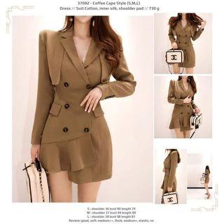 Coffee Cape Style (S,M,L) Dress -37082