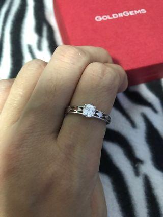 Size 14, Diamond Ring 925 (Negotiable)