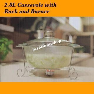 Round casserole with Rack and burner