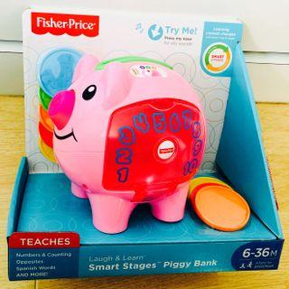 ~Ready Stock~ Fisher-Price Laugh & Learn Smart Stages Piggy Bank Coins