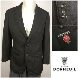 DORMEUIL (Black) Single Breasted Blazer Jacket