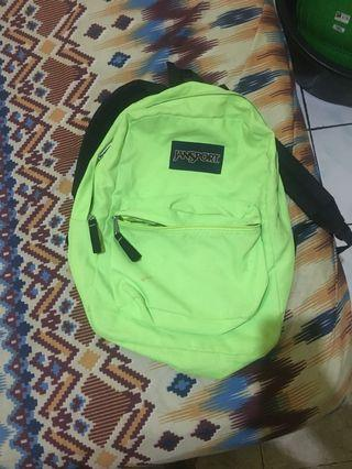 Ransel jansport hijau ori second