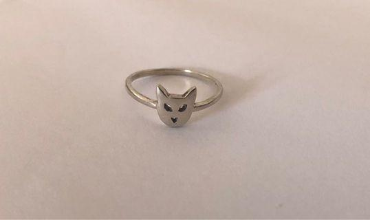 Karen walker sterling silver cat ring