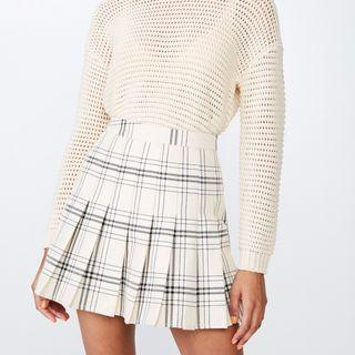 Retro plaid skirt