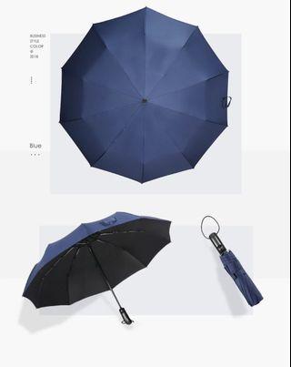 深藍色10骨耐用自動折疊傘 Duriable umbrella
