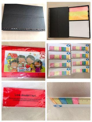 Ruler with games paste it note