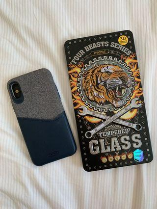 Remax IPhone X XS phone case & screen protector 保護殼
