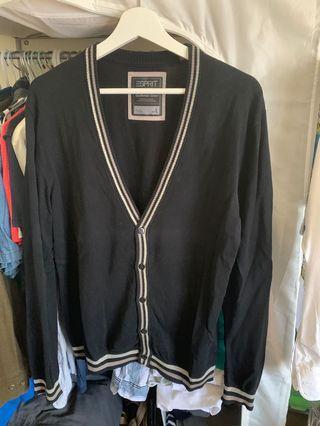 🚚 Esprit男黑針織外套