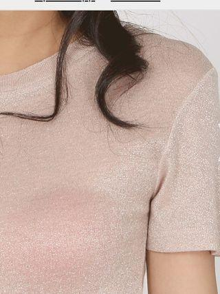 MDS Shimmer crew neck tee
