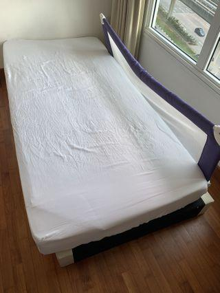 Single Mattress with bed frame