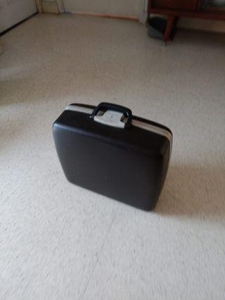 Cute vintage Smith Corona hard case luggage