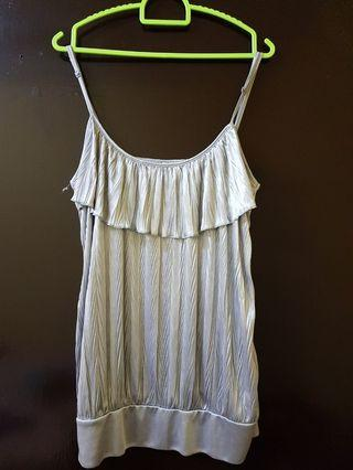 Silver Sleeveless Top by Valley Girl #MGAG101