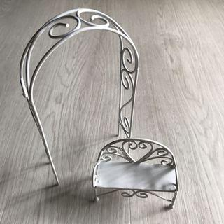 White Plated Metal Garden Arch & Chairs design